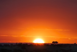 Sunset over Masai Mara National Reserve, Kenya