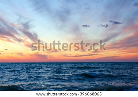 sunset over ocean in summer.Sevastopol,Crimea #396068065