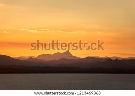 Sunset over over Byron Bay, Australia