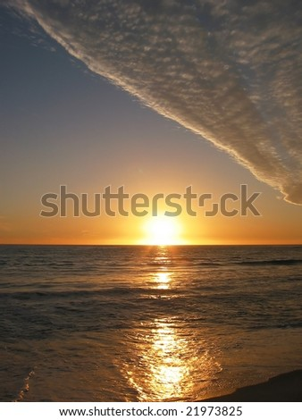 Sunset over Pacific