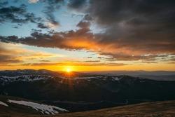 Sunset over Rocky Mountains, Colorado