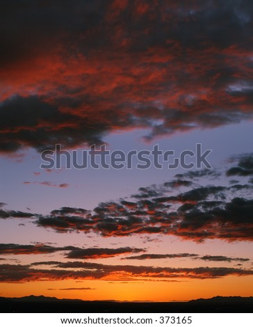 Sunset over Salt Lake Valley