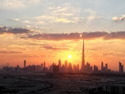 Sunset over Sheikh Zayed Road, Dubai
