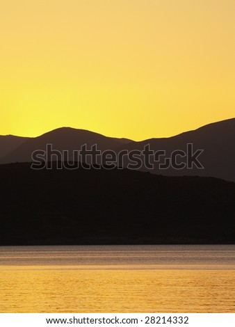 Sunset over Southern Alps