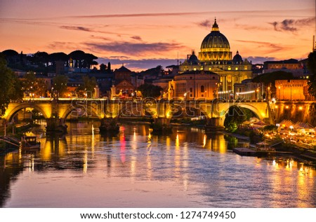 Sunset Over St Peters Basilica