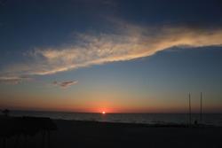 Sunset over the Atlantic Ocean in Cuba
