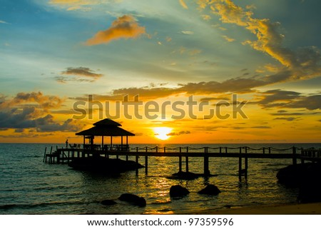 Sunset over the beach, Koh Kood, Thailand.