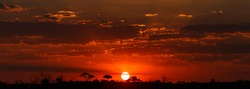 Sunset Over The Chobe National Park, Botswana, Africa