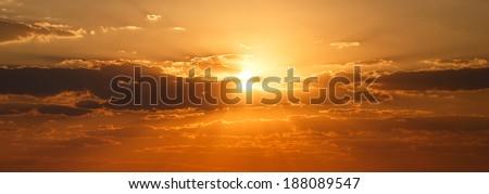 Sunset Over The Chobe National Park, Botswana, Africa #188089547