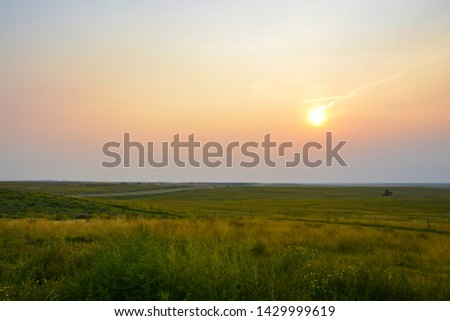 Sunset Over The Great Plains, United States of America | Landscape | Horizon Foto d'archivio ©