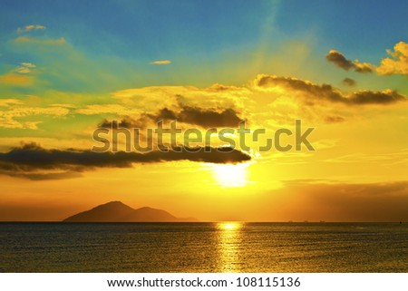 Sunset over the ocean