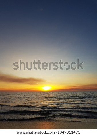 Sunset over the ocean #1349811491