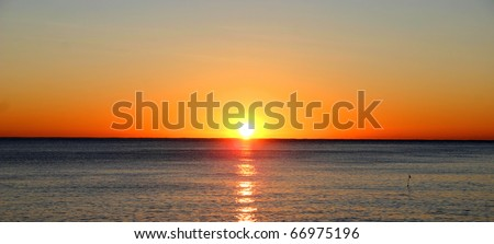 Sunset over the ocean #66975196