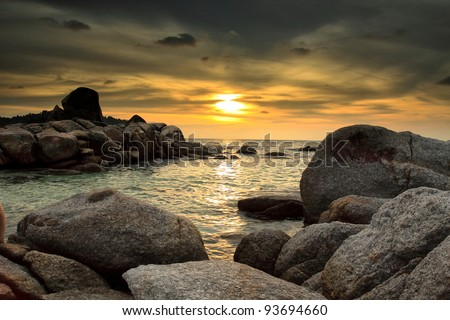 Sunset over the sea #93694660