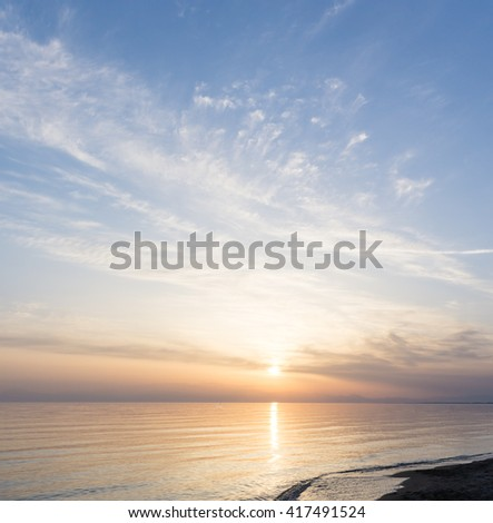 sunset over the sea beach #417491524