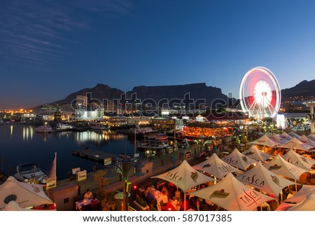 sunset over the v a waterfront...