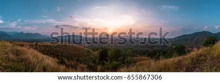 sunset panorama #655867306