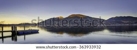 Sunset Panorama of  Bavaria Germany #363933932