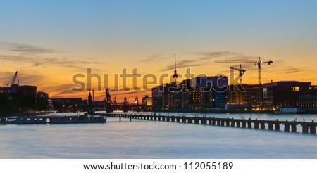 Sunset panorama of Berlin