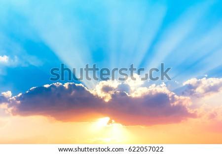 Sunset Paradise Burning Skies  #622057022