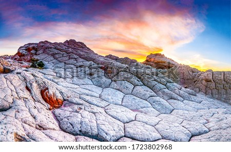 Sunset red rock canyon sandstone. Red rock canyon sunset scene