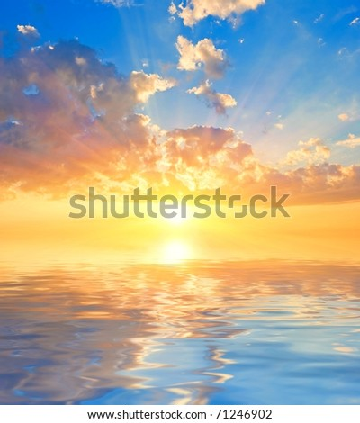 sunset reflected in a water #71246902