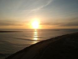 Sunset Samoa Dunes Eureka California