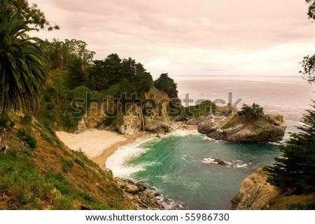 Sunset Scene in California's Big Sur