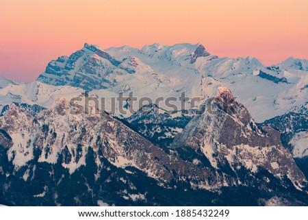 Sunset seen from Rigi Kulm, Switzerland Stock fotó ©