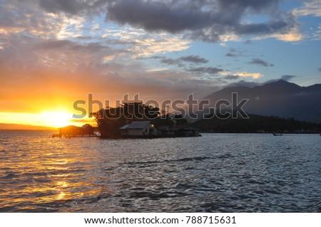 Sunset Sentani lake Jayapura Indonesia #788715631