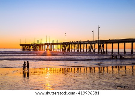 Sunset siblings // Venice Beach