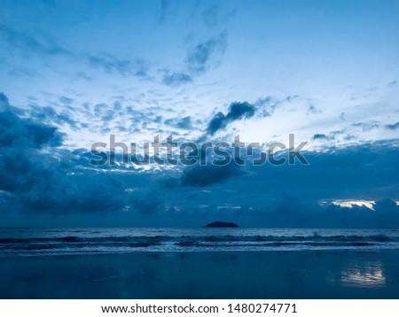 Sunset Silver sky Evening sea Evening beach #1480274771