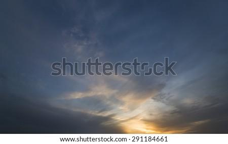 Sunset sky #291184661