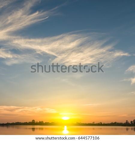 sunset sky #644577106