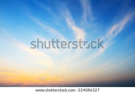 Sunset Sky Background #224086327