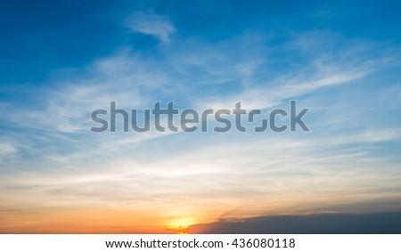 sunset sky background - Shutterstock ID 436080118