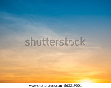 sunset sky background - Shutterstock ID 563319001