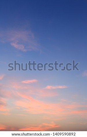 Sunset Sky Background , Colorful sky in twilight time background #1409590892