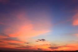 sunset sky background.orange sunset sky. Beautiful sky.select focus.