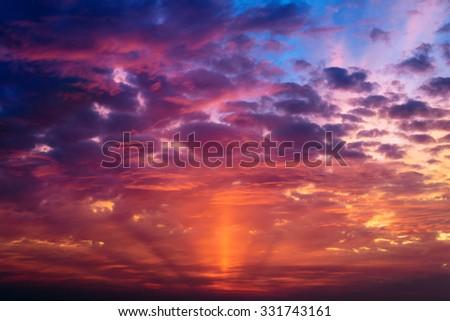 Sunset sky. Beautiful sky. #331743161