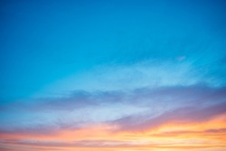 Sunset Sky-Burning Clouds