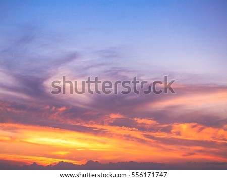 sunset sky clouds
