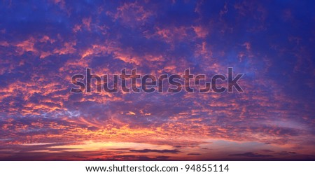 Sunset Sky dramatic panorama background