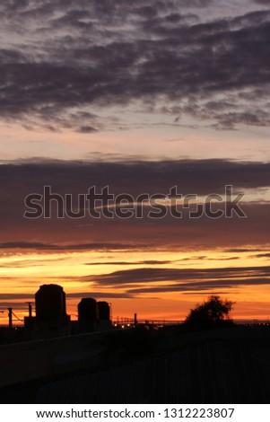 sunset sky dusk #1312223807