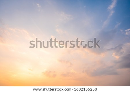 Sunset sky for background or sunrise sky and cloud at morning.