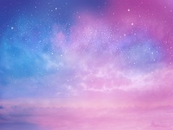 Sunset sky star background