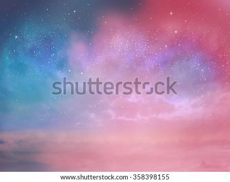Sunset sky star background #358398155