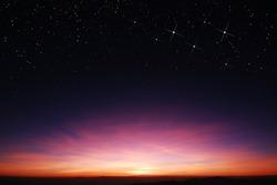 sunset sky star background light sunrise nature for design