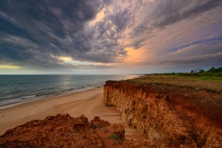 Sunset storm at Dundee, Northern Territory Australia.