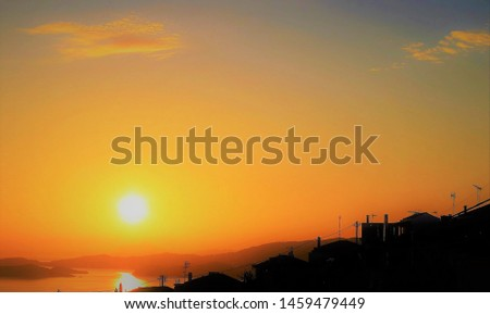 sunset sunrise sky travel reflection evening orange sea background water vew horizon ocean scenic red beauty cloud sunlight holidays nature sun  #1459479449